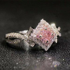 NEW 925 Sterling Silver Pink Sapphire Ring